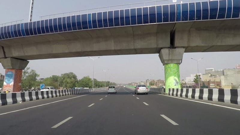 Driving in Delhi (Delhi-Meerut Expressway) - India