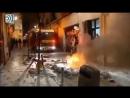 Nach Florenz in Italien war gestern Abend die Tour von Madrid nach Spanien. Unruhen von Migranten mit großer Gewalt!!
