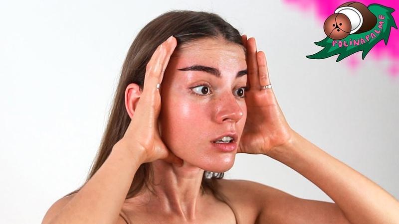 Массаж лица от морщин дома за 10 минут 💆 Омолаживаем кожу лица 🌴 POLI NA PALME
