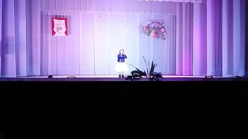 Отрывок выступления на конкурсе Время чудес. Лауреат первой степени.