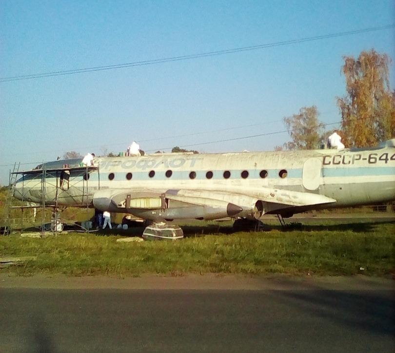 Памятник-самолет в Кимрах отмоют, покрасят, поднимут и подсветят