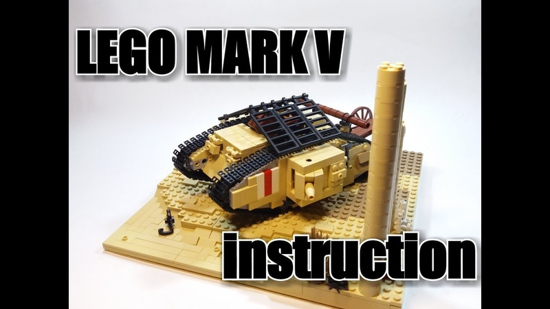 LEGO WWI tank MARK V. Instruction инструкция к танку МАРК 5.