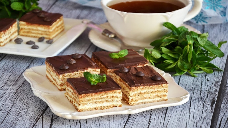 Творожный торт с печеньем