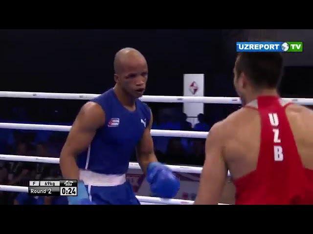 Boks Jahon chempionati 69 kg Shaxram G'iyosov vs Roniel Iglesias