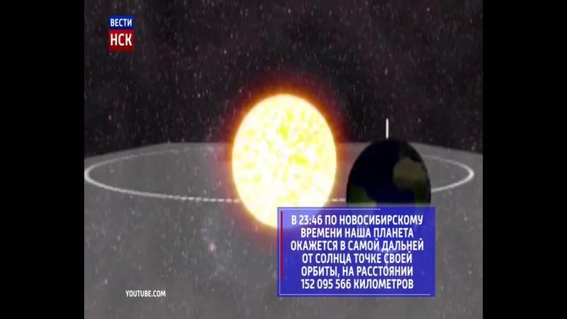 Планета Земля в пятницу пройдет точку Афелий