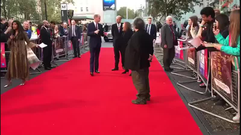 The Duke of Cambridge arrives at the World Premiere of They Shall Not Grow Old, a new film created by Academy Award-winning Dire
