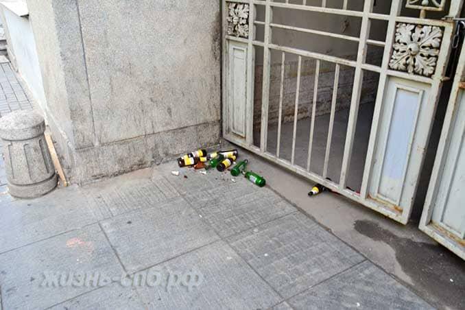 пьянство - зло! Мусор в городе