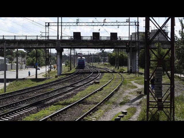 приветливый ЧС7-293 с фирменным поездом Днепропетровск-Донецк