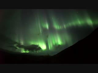 Полярное сияние в Хибинах в ночь с 10 по 11 сентября 2018 года