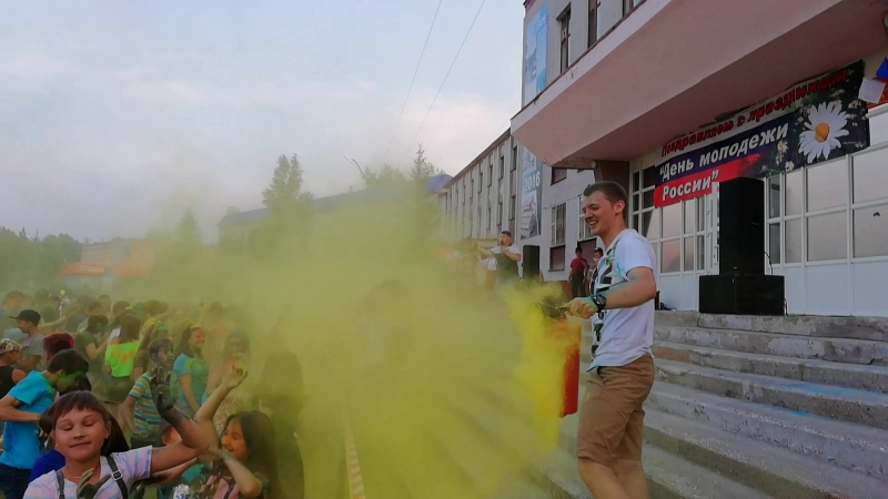 Первый фестиваль красок в Железногорске-Илимском 2018 г.