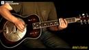 Krbi's Guitar Hobo on the street bottleneck slide guitar