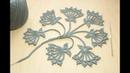 Вязание крючком мотив БУТОН ЦВЕТКА ирландское кружево Crochet Flower Bud