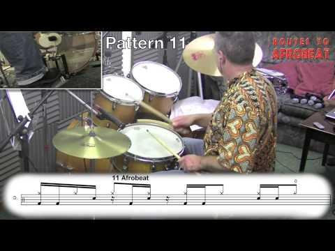 Afrobeat drumming - Fela Kuti/Tony Allen style drums - Afro-beat rhythms. 30 Drum pattern examples