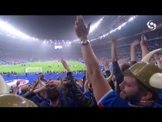 Исландские игроки и фанаты