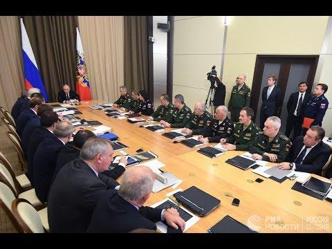 18.12.2018 Владимир Путин принял участие в расширенном заседании коллегии Министерства обороны.