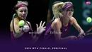 Kiki Bertens vs. Elina Svitolina | 2018 WTA Finals Singapore Semifinal | WTA Highlights