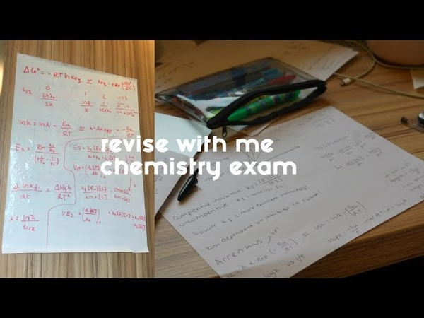 STUDY/REVISE WITH ME! Chemistry Exam-Biochemistry at University of Bath