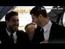 Реал Мадрид на борту самолета по пути в Мюнхен