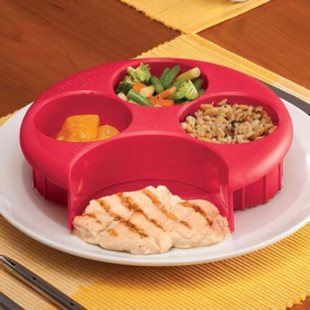 Удобное приспособление для тех кто соблюдает правильное питание и контролирует размер порций В устройстве четыре отсека