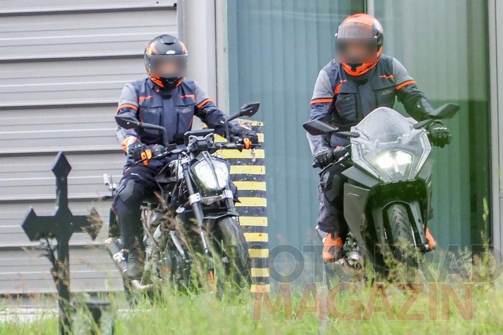 Шпионское фото KTM RC 390