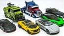 Transformers 5 Autobots Bumblebee Optimus Prime Hound Hotrod Crosshairs Drift Cogman Car Robot Toys