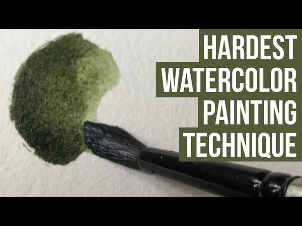 Watercolor Blending and Edge Control Technique | Tutorial