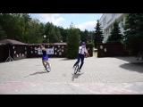 Жонглёры на моноциклах