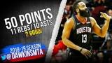 James Harden Triple-Double 2018.12.13 Rockets vs Lakers - 50 Pts! 11-10 FreeDawkins
