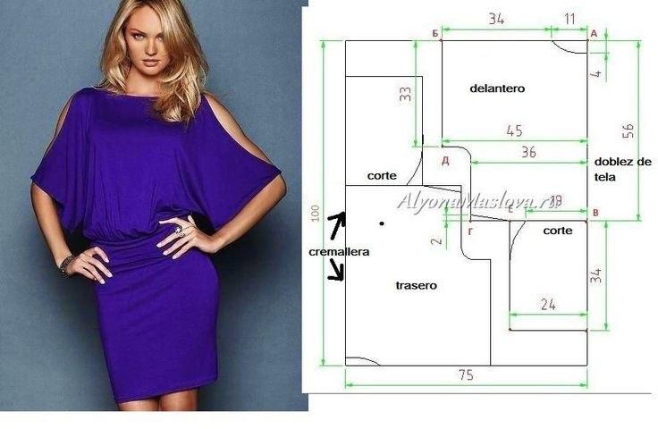 Выкройка платья оригинальная