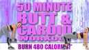 50 MINUTE BUTT AND CARDIO WORKOUT! 🔥BURN 480 CALORIES!*🔥with Sydney Cummings