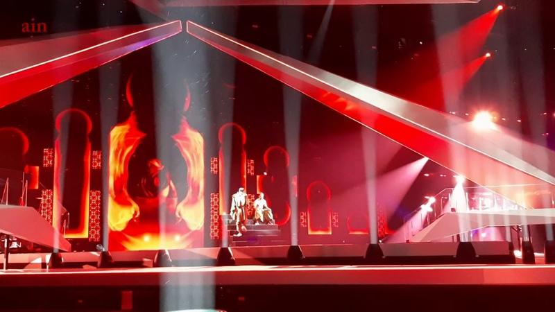 Primeiro ensaio de Conan Osíris em Telavive para o Festival da Eurovisão.
