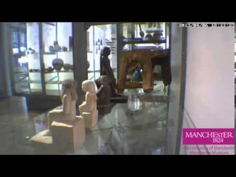 Egyptian statuette spins untouched inside glass case