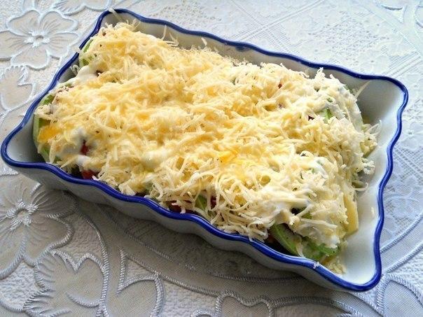 Кабачки, запеченные с помидорами и сыром. Кабачки, запеченные