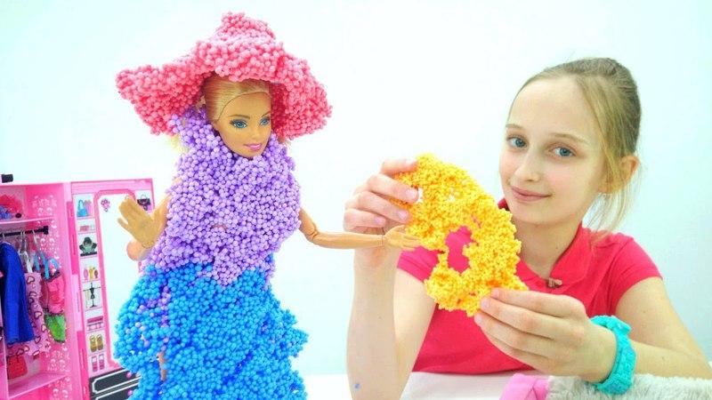 Видео про кукол - Барби готовится к конкурсу костюмов