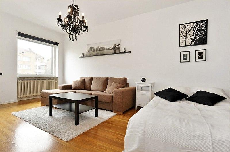 Минималистичный интерьер квартиры 28 м в Хельсингборге / Швеция.