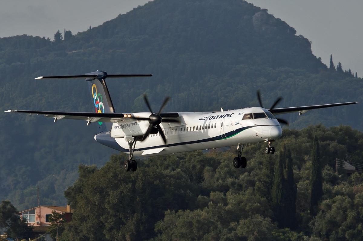 DHC-8 в полете