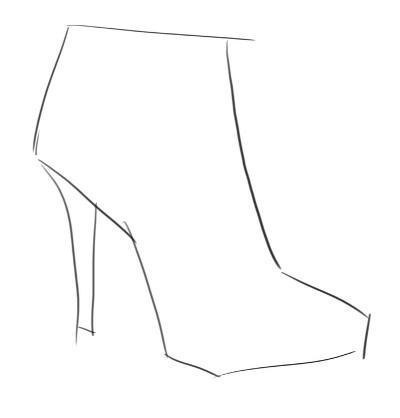 Рисуем обувь