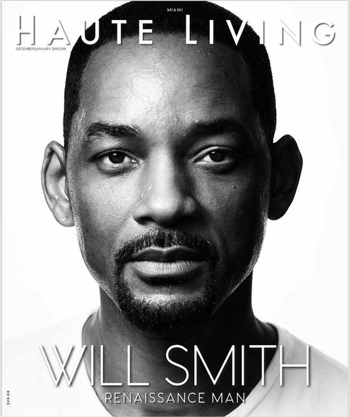Will Smith Haute Living Magazine, 2018