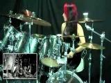 CHICA BATERISTA - Tocando un Cover de Slayer - Postmortem