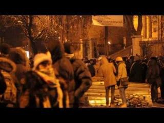 Протестующие сконструировали катапульту. Ул. Грушевского. 20.01.2014