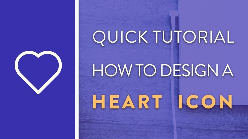 DAY 1 : How To Design A Heart Icon in Illustrator   Icon Design Week