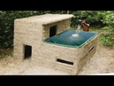 Building Most Beautiful Swimming Pool On The Villa House By Bamboo