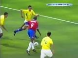 ЧМ-2002. Пауло Ванчопе (Коста-Рика) - мяч в ворота сборной Бразилии