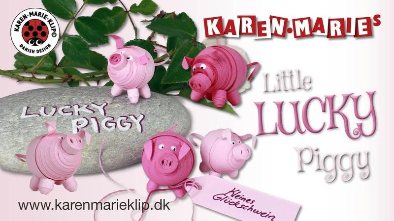 Lucky Quilling Piggy - Karen Marie Klip Papir