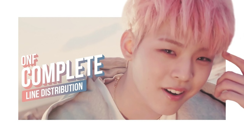 ONF - COMPLETE Line Distribution (Color Coded) | 온앤오프 - 널 만난 순간