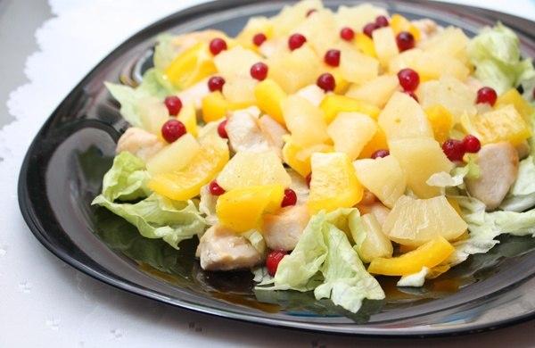 Рецепт салата с курицей вдохновенье с фото