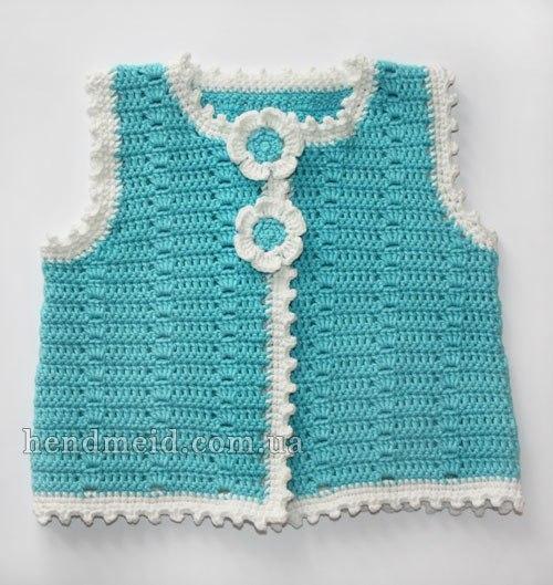 Delicadezas en crochet Gabriela: Chaleco y sombrero para niñas que ...