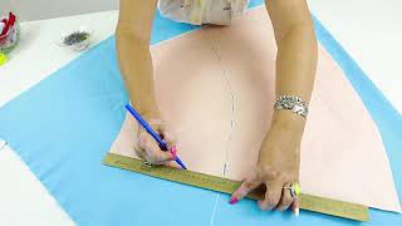 Как сшить юбку брюки или кюлоты своими руками Построение выкройки от юбки четверть солнце Часть 1
