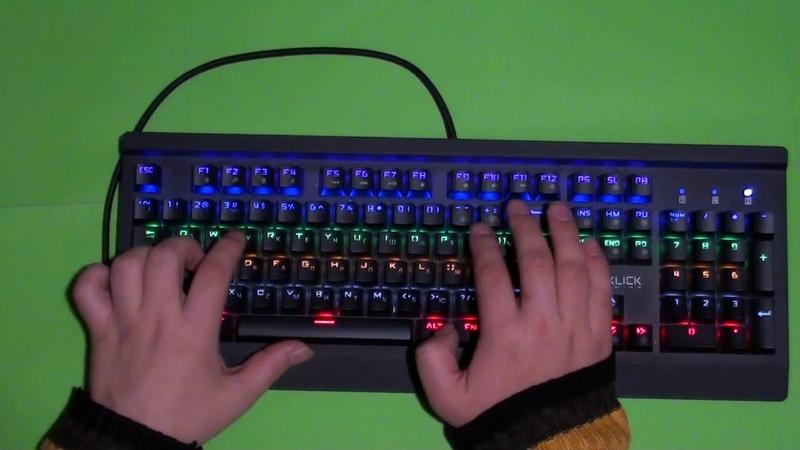 Обзор механической клавиатуры Oklick 920G IRON EDGE