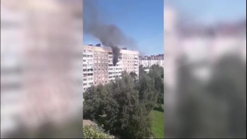 пожар на проспекте Авиаконструкторов